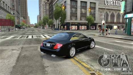 Mercedes-Benz CL65 AMG v1.5 para GTA 4 esquerda vista