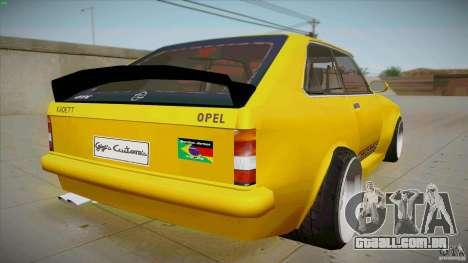 Opel Kadett D GTE Mattig Tuning para GTA San Andreas traseira esquerda vista