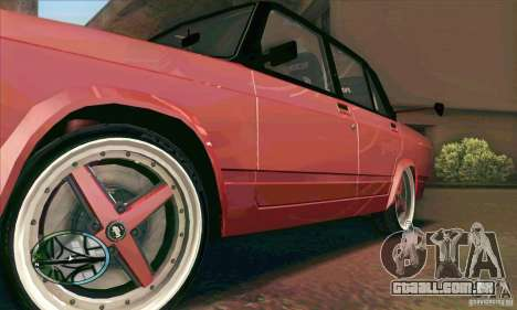VAZ-2107 carro Tuning para GTA San Andreas vista interior