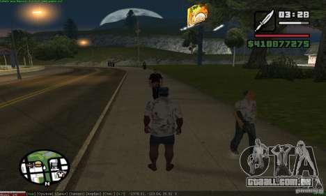 Weapons for pedestrian para GTA San Andreas segunda tela