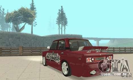 VAZ 2107 Ex Tuning para GTA San Andreas esquerda vista