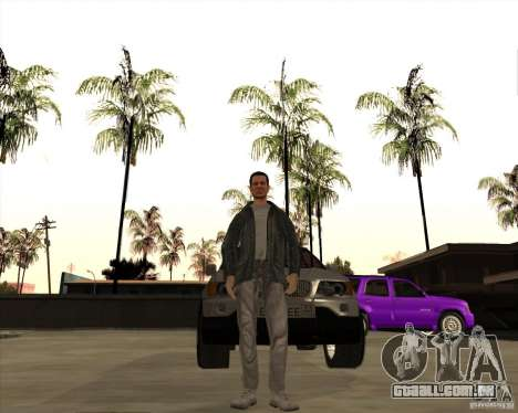 A pele é um membro da máfia para GTA San Andreas segunda tela
