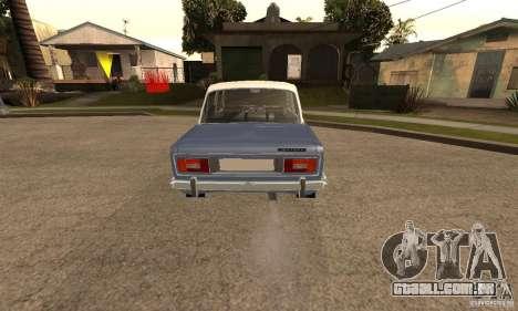 2106 VAZ velho v 2.0 para GTA San Andreas vista traseira
