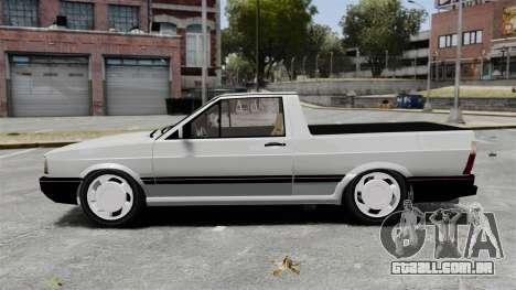 Volkswagen Saveiro 1990 Turbo para GTA 4 esquerda vista