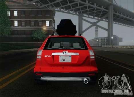 Honda CRV 2011 para GTA San Andreas vista inferior