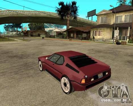 BMW M1 para GTA San Andreas esquerda vista