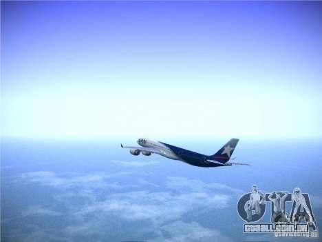 Airbus A340-600 LAN Airlines para GTA San Andreas vista interior