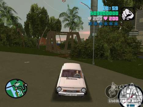 ZAZ 968 para GTA Vice City vista direita