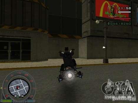 Moto de motociclista da cidade alienígena para GTA San Andreas traseira esquerda vista