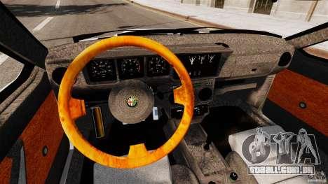 Alfa Romeo GTV6 1986 para GTA 4 vista de volta