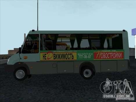 3207 Golaz para GTA San Andreas traseira esquerda vista