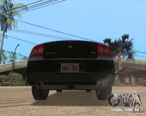 Dodge Charger para GTA San Andreas traseira esquerda vista