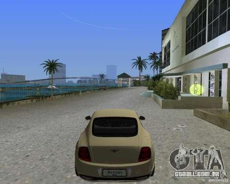 Bentley Continental SS para GTA Vice City deixou vista
