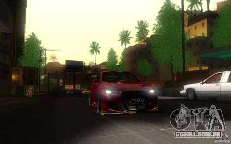 Mitsubishi Lancer EVO X drift Tune para GTA San Andreas vista traseira