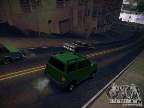 UAZ 3160 patriota para GTA San Andreas vista traseira