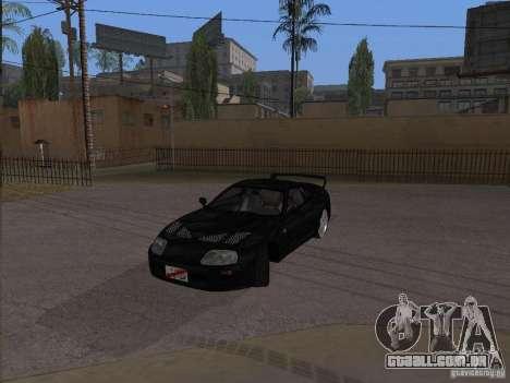 Toyota Supra MKIV para GTA San Andreas traseira esquerda vista