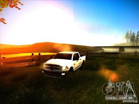 Dodge Ram Heavy Duty 2500 para vista lateral GTA San Andreas