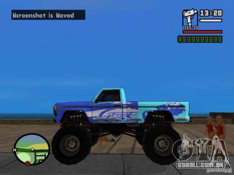 Um monstro no estilo do FC ZENIT para GTA San Andreas esquerda vista