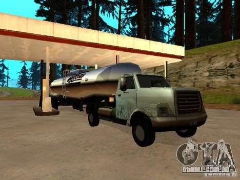 Yankee Truck para GTA San Andreas vista traseira