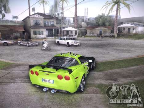 Chevrolet Corvette C6 Z06 Tuning para GTA San Andreas vista inferior