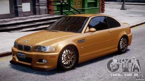 BMW M3 E46 Tuning 2001 v2.0 para GTA 4