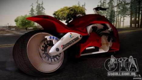 Predator Superbike para GTA San Andreas esquerda vista