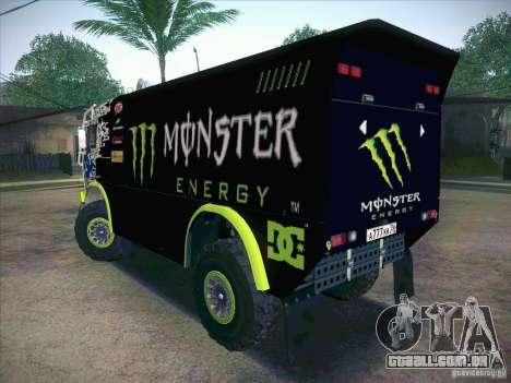 KAMAZ Master 4911 Monster Energy para GTA San Andreas esquerda vista