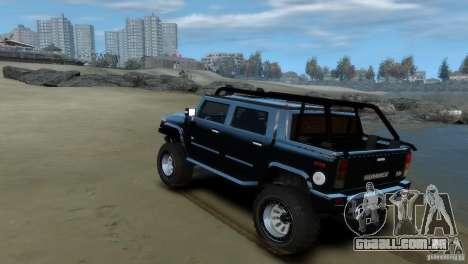 Hummer H2 4x4 OffRoad para GTA 4 vista direita