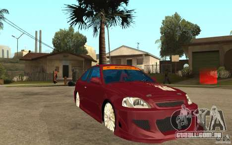 Honda Civic 1998 Tuned para GTA San Andreas vista traseira