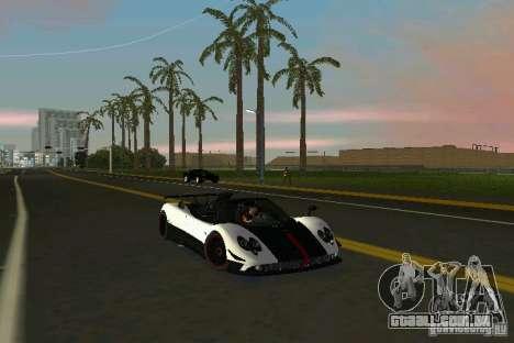 Pagani Zonda Cinque Roadster 2010 para GTA Vice City vista traseira esquerda