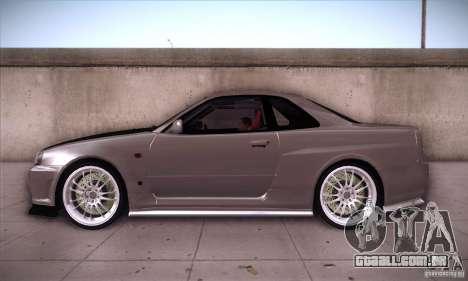 Nissan Skyline para GTA San Andreas esquerda vista