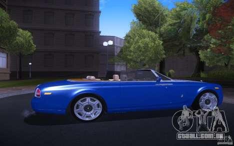Rolls-Royce Phantom Drophead Coupe para GTA San Andreas vista direita