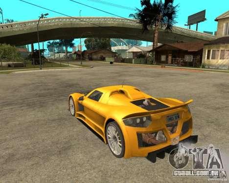 Gumpert Appolo para GTA San Andreas esquerda vista