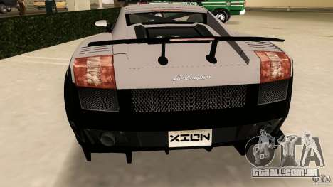 Lamborghini Gallardo Police para GTA Vice City vista traseira