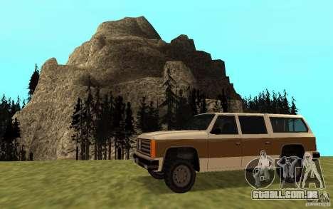 Um civil do FBI Rancher para GTA San Andreas esquerda vista