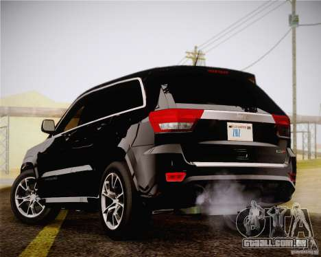 Jeep Grand Cherokee SRT-8 2012 para GTA San Andreas esquerda vista