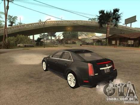 Cadillac CTS-V 2009 para GTA San Andreas traseira esquerda vista