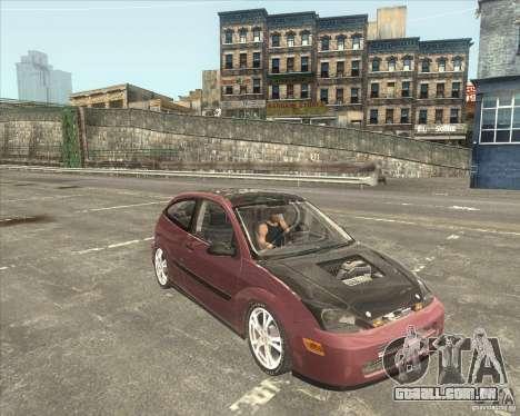 Ford Focus SVT para GTA San Andreas traseira esquerda vista