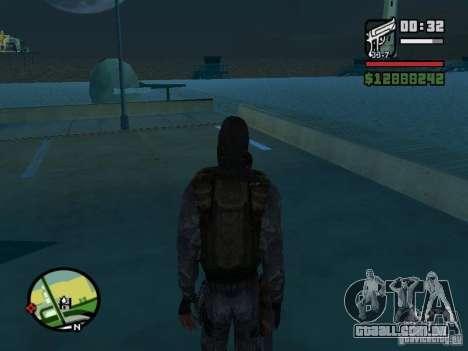 Mercenário de perseguidor no novo kombeze para GTA San Andreas terceira tela
