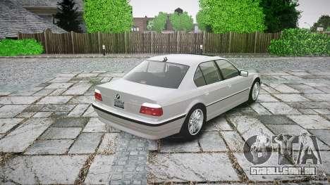 BMW 740i (E38) style 32 para GTA 4 traseira esquerda vista