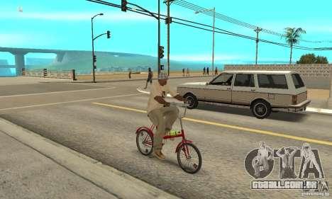 Bicicleta de Kama para GTA San Andreas vista direita