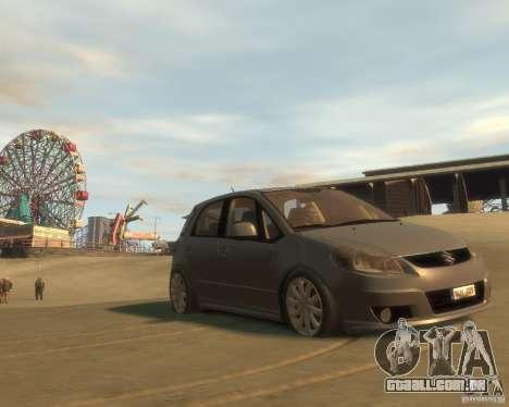 Suzuki SX4 Sport Back para GTA 4 vista de volta