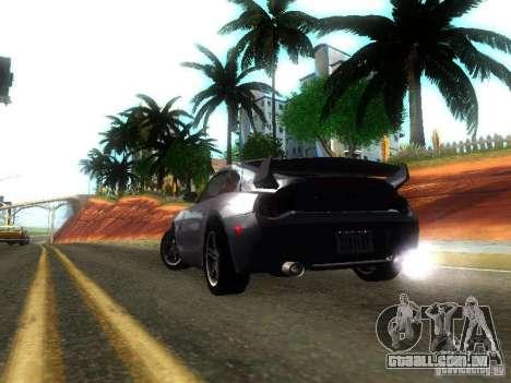 BMW Z4 M 07 para GTA San Andreas traseira esquerda vista