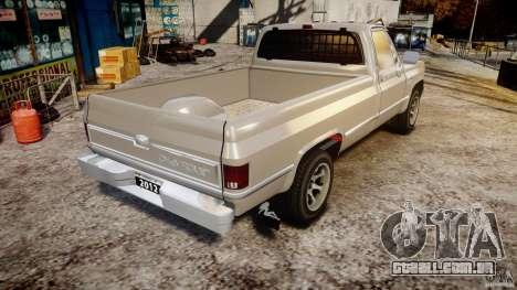 Chevrolet Silverado 1977 para GTA 4 vista lateral