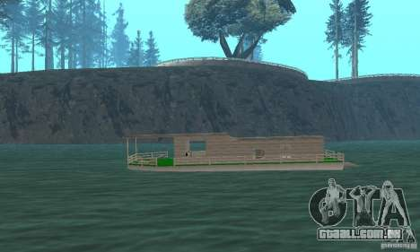 CASA NA ÁGUA para GTA San Andreas traseira esquerda vista