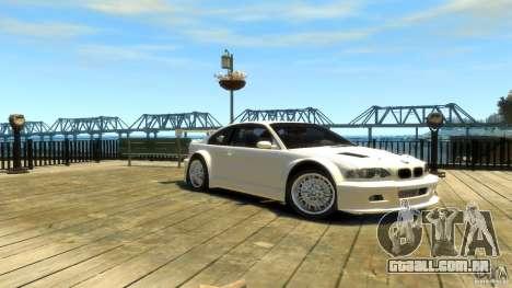 BMW E46 M3 GTR Sport para GTA 4 vista direita