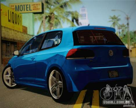 Volkswagen Golf R 2010 para GTA San Andreas esquerda vista