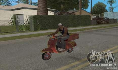 Vespa N-50 Pizzaboy para GTA San Andreas traseira esquerda vista