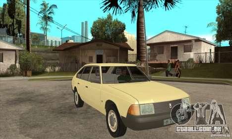 2141 AZLK para GTA San Andreas vista traseira