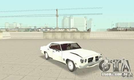 Pontiac LeMans 1971 para GTA San Andreas vista interior